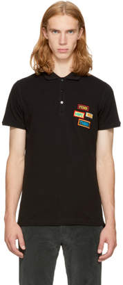 Fendi Black Patches Polo