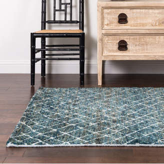 Loloi Rugs Sahara Mediterranean Hand-Knotted Blue Area Rug
