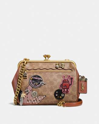 Coach X Keith Haring Kisslock Crossbody In Signature Patchwork