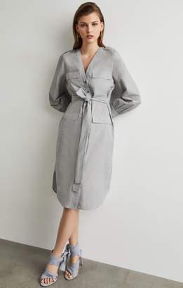 BCBGMAXAZRIA Patch Pocket Shirt Dress