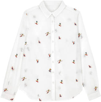 Cath Kidston Little Skiers Cotton Embroidered Shirt
