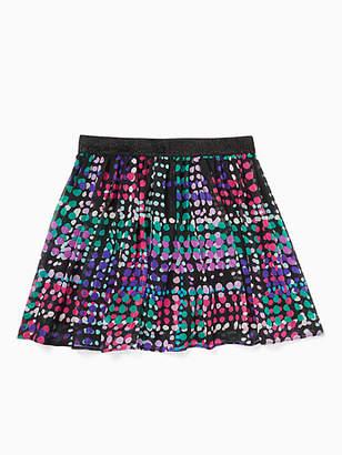 Kate Spade Girls dotty plaid skirt