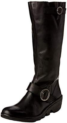a6e0273584eb Fly London Black Leather Boots For Women - ShopStyle UK