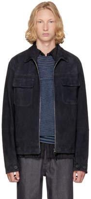 Missoni Navy Suede and Wool Jacket
