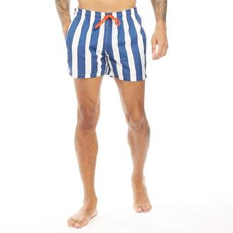 691ff2765c Le Breve Mens Preston Shorts White/Navy Stripes