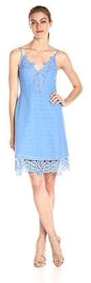 Laundry by Shelli Segal Women's a-Line Dress with Lace Trim
