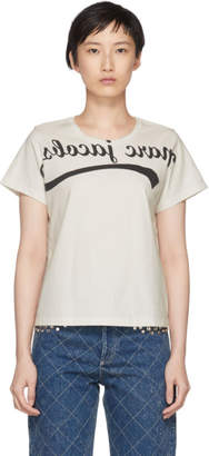 Marc Jacobs Off-White Reverse Logo T-Shirt