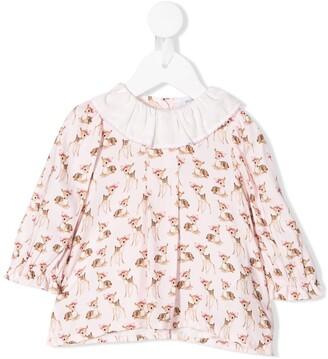 MonnaLisa Bambi print blouse