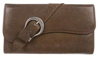 Christian Dior Gaucho Saddle Wallet