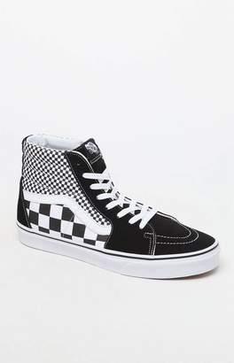 vans sk8 hi white with black stripe