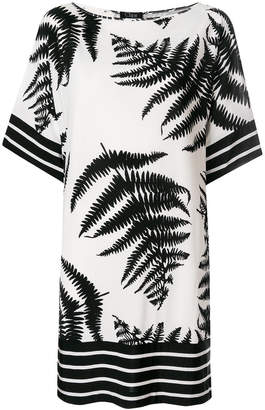 Clips fern print T-shirt dress