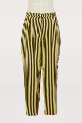Roseanna Candela virgin wool and silk pants