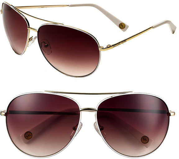 MICHAEL Michael Kors Aviator Sunglasses
