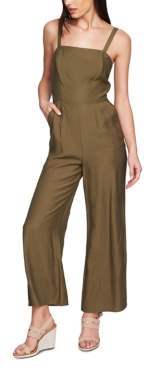 1 STATE 1.State 1.state Sleeveless Square-Neck Wide-Leg Jumpsuit