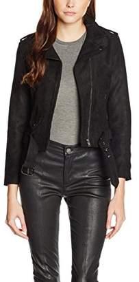 boohoo Women's Olivia Asymmetric Biker Jacket,8 (Size:Small)