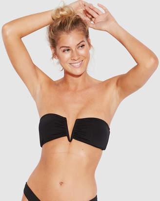 Seafolly Active V Wire Bandeau Bikini Top
