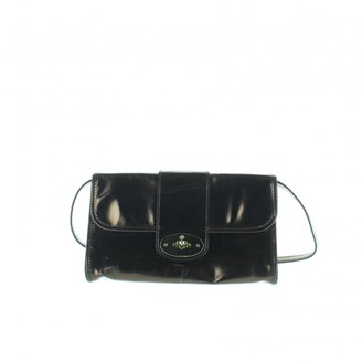 Mulberry Metallic Leather Clutch Bag