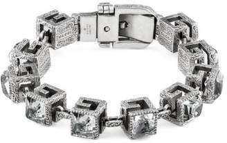 Gucci Bracelet with Square G cubes in silver