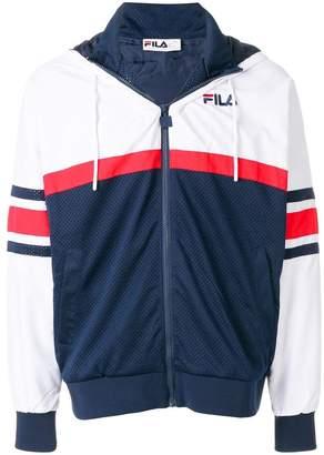 Fila colour-block hooded sweatshirt