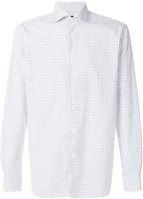 Corneliani diamond printed shirt