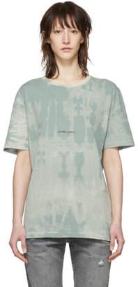 Saint Laurent Blue Tie-Dye Rive Gauche T-Shirt