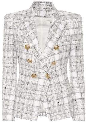 Balmain Exclusive to Mytheresa Double-breasted tweed blazer
