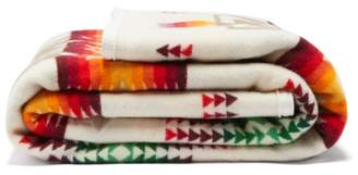 Pendleton Chief Joseph Wool And Cotton Blend Blanket - Beige Multi