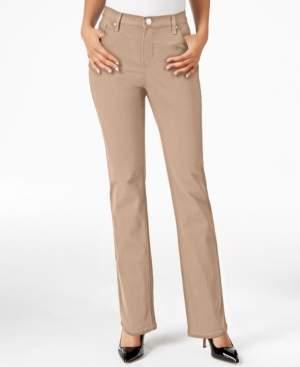 Macy's Lee Platinum Petite Gwen Straight-Leg Jeans, A Exclusive