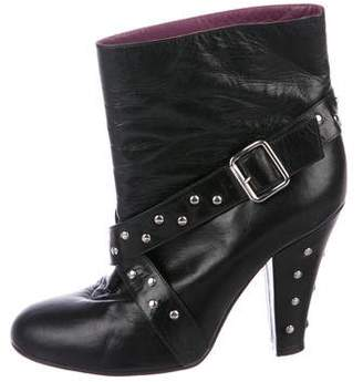 Marc Jacobs Leather Studded Booties