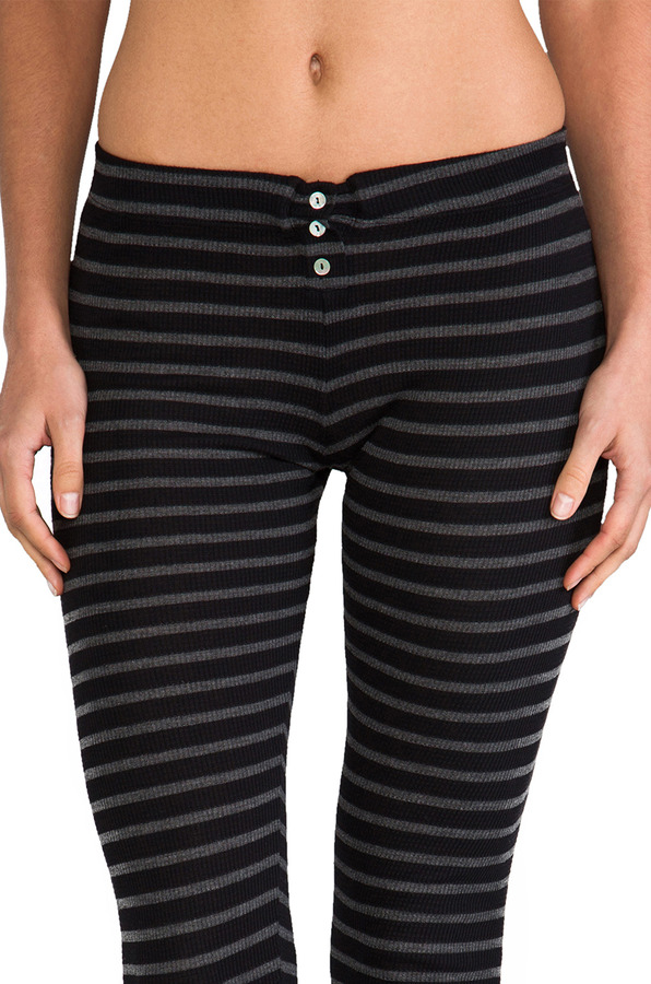 So Low Stripe Thermal Button-Up Legging