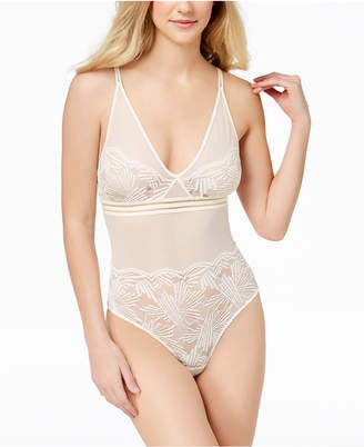 Calvin Klein Perfectly Fit Mesh And Lace Bodysuit QF4587