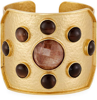 Stephanie Kantis Quartz & Topaz Rejoice Cuff Bracelet