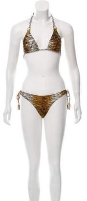 Vix Paula Hermanny Animal Print Two-Piece Swimsuit w/ Tags