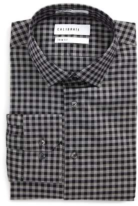 F&F CALIBRATE Trim Fit Check Dress Shirt