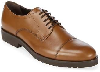 a. testoni Men's Leather Cap Toe Derby Shoes