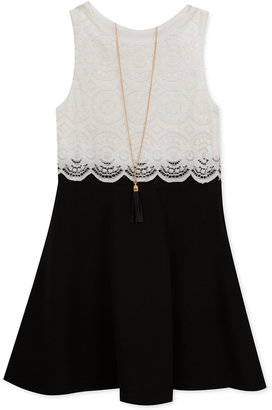 Rare Editions Lace Popover Dress, Little Girls (2-6X) $52 thestylecure.com