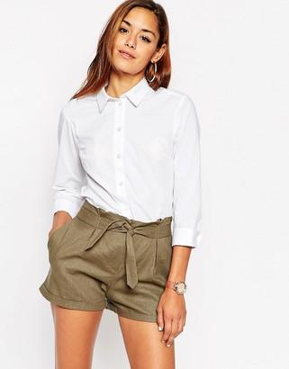 ASOS 3/4 Sleeve White Shirt $23 thestylecure.com