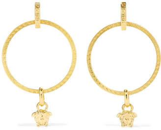 Versace Gold-tone Hoop Earrings