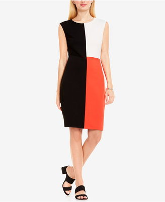 Vince Camuto Colorblocked Sheath Dress $119 thestylecure.com