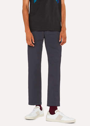 Paul Smith Men's Slim-Fit Dark Navy Lightweight Cotton Chinos