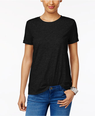 Style & Co Rolled-Cuff T-Shirt, Only at Macy's $9.98 thestylecure.com