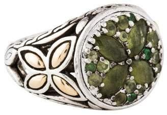 John Hardy Peridot & Tsavorite Batu Kawung Ring