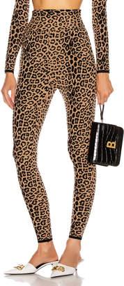 Dundas High Waisted Leopard Pant in Black & Beige   FWRD