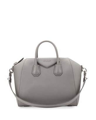Givenchy Antigona Medium Leather Satchel Bag, Gray $2,435 thestylecure.com