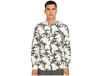 Marc Jacobs Shadow Leaf Slim Button Up Men's Long Sleeve Button Up