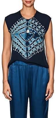 Raquel Allegra Women's Tie-Dyed Silk Sleeveless Top