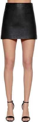 Courreges Matte Vinyl A-Line Mini Skirt