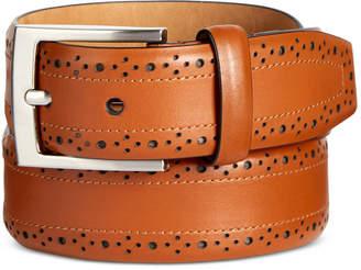 Tasso Elba Men's Feather-Edge Leather Belt