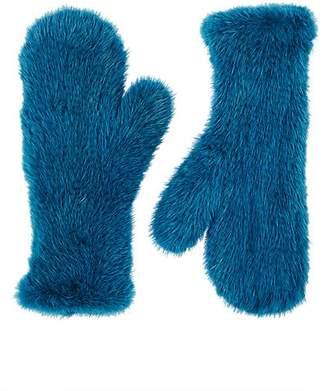 806bb6217 Barneys New York Women's Knitted Mink Fur Mittens - Blue