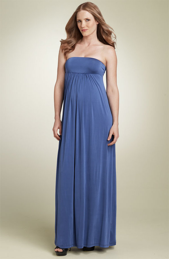 Olian Maternity Strapless Maxi Dress